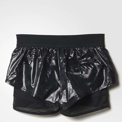 Adidas Stella Mccartney running 2 in 1women' shiny cycling gym shorts AZ3905 2XS