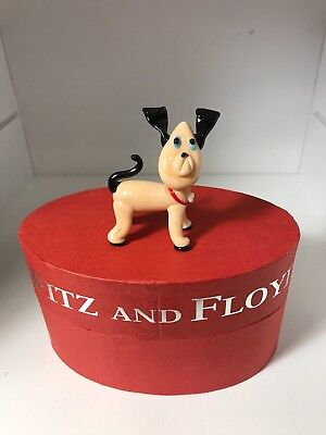 FITZ and  FLOYD NAPOLEON Glass Figurine Dog Menagerie Limited Edition with box