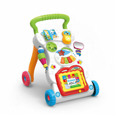 SURREAL 2 In 1 First Steps Baby Walker Sounds  and Lights Fun Push Along Walker