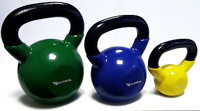 SURREAL Home Gym Workouts Fitness Vinyl Kettlebell Weights Kettlebells Training