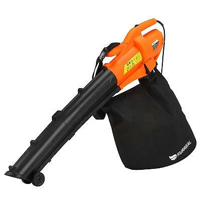 Surreal Electric 2500W New Garden 3 in 1 Leaf Blower Vacuum Shredder And Mulcher