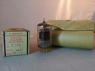 E55L Valvo Tube/Röhre RED LABEL NOS
