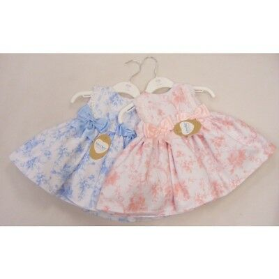 Kinder Boutique Baby Girls Spanish Style Romany Gipure & Bows Trim Roses Dress