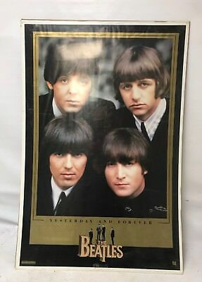 BEATLES BLACK AND White Poster 175x225