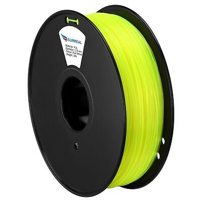 SURREAL 3D Printer Fluorescent Filament PLA 1.75mm Makerbot Leapfrog RepRap