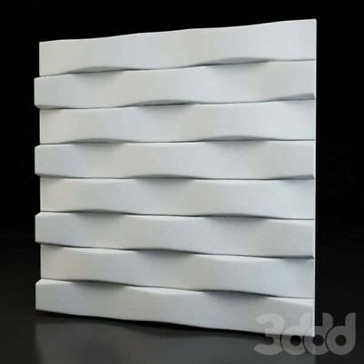 *PARALLEL* 3D Decorative Wall Stone Panels. ABS Form Plastic mold for Plaster