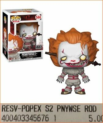 Funko Pop Pennywise FYE exclusive #544 Wave 2 PRE-ORDER w/thick soft protector!