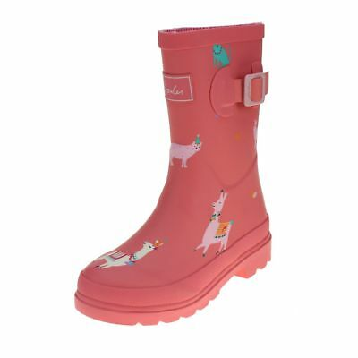 Joules Bright Pink Festival Friends Girls Wellington Boot size uk kids children