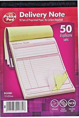PUKKA PAD Delivery Note Carbonless (NCR) Duplicate Pad Book Set - WH2-R5C 813