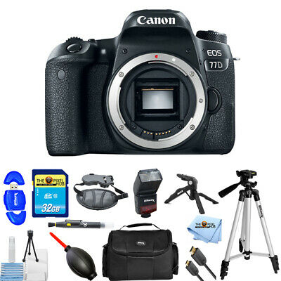Canon EOS 77D DSLR Camera (Body Only) #1892C001 PRO BUNDLE BRAND NEW