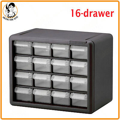 Stack On Small Parts Organizer 16 Drawer Storage Cabinet Plastic Tool Chest  Box