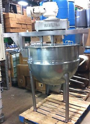 Hamilton Steam Jacketed 100 Gallon Kettle Stainless Steel Triple Motion