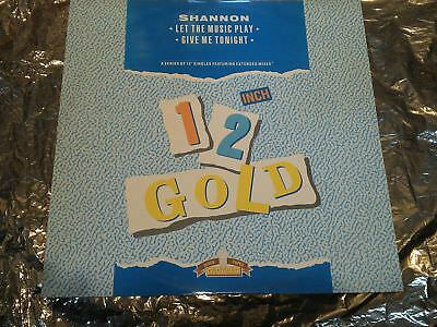 Shannon--Let The Music Play/ Give Me Tonight--Uk Import-12'gold--1988--12'maxi--