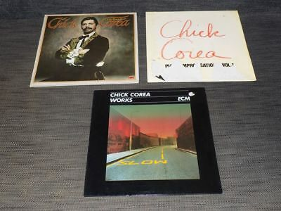 Chick Corea - 4 LP - Works, My spanish heart, Return to forever, Piano Impro