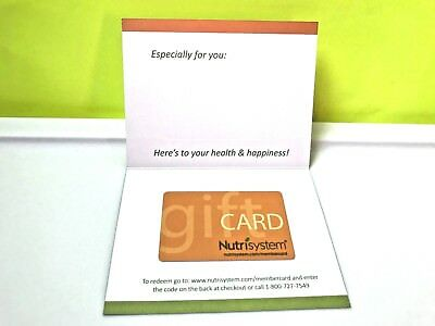 $100 Nutrisystem Gift Card-Free Shipping!!!