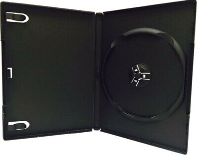 100 PREMIUM STANDARD Black Single DVD Cases 14MM New Material DSP