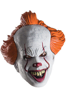 Brand New IT Pennywise Scary Clown Adult 1/2 Mask