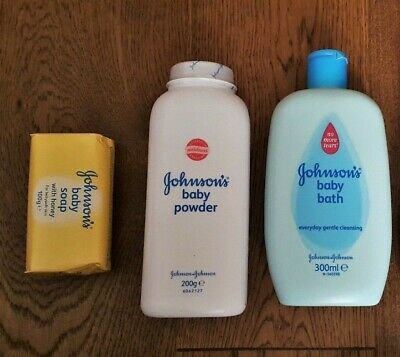 Johnsons Cussons Mum Baby Toiletries Baby Bath Talc Honey Soap Bump Body Lotion