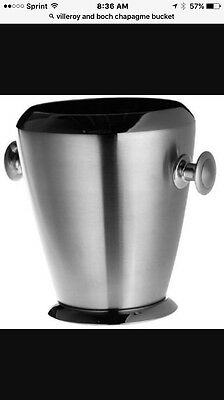 Velloroy And Boch BrushedStainless Steel Champagne Bucket