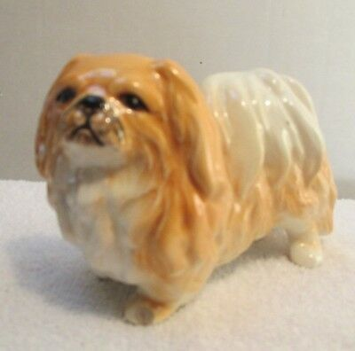 "Pekingese Dog Figurine #307 Ceramic Figure 3 1/4"" Tall"