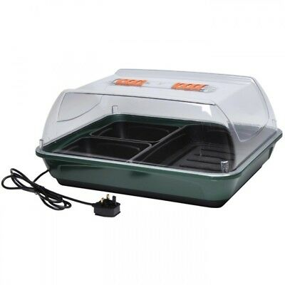 Growarm 300 HEATED PROPAGATOR KIT Growing Seeds Germination 2 TRAYS New