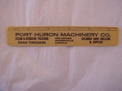 Vintage 1921 Port Huron Machinery Co Steam & Kerosene Tractors Celluloid Ruler