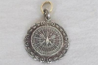 A Superb Solid Sterling Silver Darts Watch Chain Fob Medal.