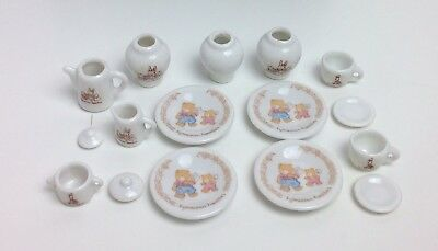 Sylvanian Families VINTAGE Ceramic China Tableware Kitchen Crockery Tea Set Rare
