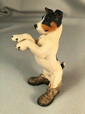 North Light (England) Resin Jack Russell Terrier Figurine Standing In Boots #2