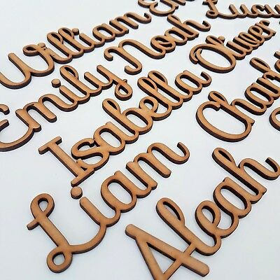 Script Names Letters Words MDF Personalised Book Art Wooden Wood Wedding SF