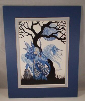 """Amy Brown - """"Winter Solstice"""" -  8"""" X 10"""" - Double Matted Print"""