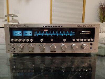 Marantz 4240 Stereo Receiver Quad / Serviced / In Good Used Condition / See !!