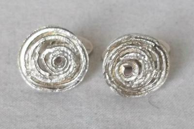 A Fine Vintage Pair Of Solid Sterling Silver Men's Cufflinks Birmingham 1971.