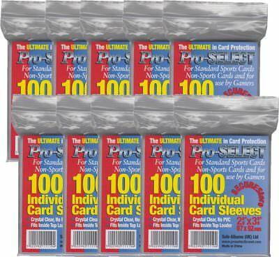 Pro Select - 10x (1000) Card Sleeves 2 5/8 x 3 5/8