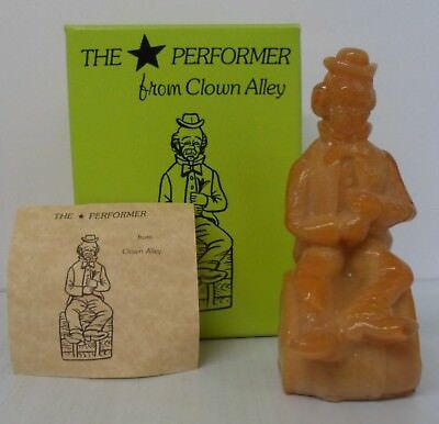 """Mosser Glass """"The Performer from Clown Alley"""" """"Yank"""" - caramel with Box"""