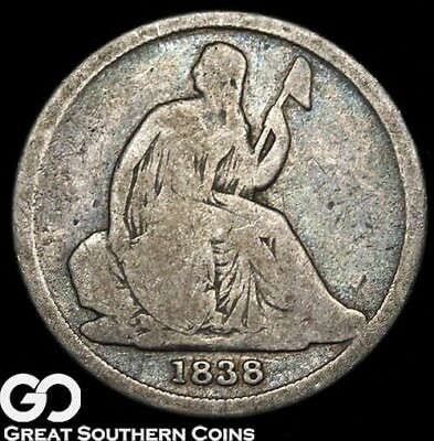 1838-O Seated Liberty Dime, Better Date New Orleans Issue