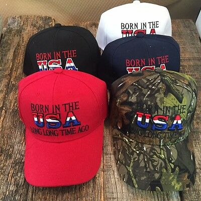 WHOLESALE LOT 5 X Assorted BORN IN THE USA LONG TIME AGO Baseball Caps HAT HT702
