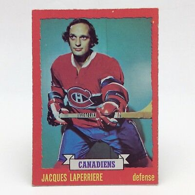 1973 74 OPC Chee Jacques Laperriere 40 Montreal Canadians Ice Hockey Card E608