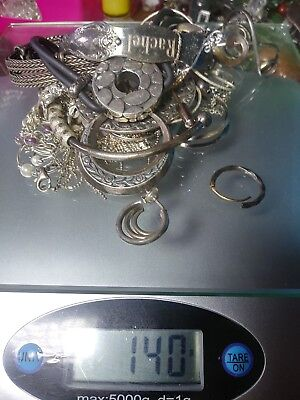 Large Lot of Scrap or Usable Silver Sterling 925 Jewelry 184 Grams
