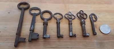 Lot of 7 antique Skeleton Key P.F.Corbin 18 and 6 more