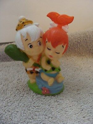 The Flintstones **PEBBLES + BAM BAM** Rubber Cake Topper Figure