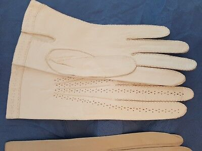 (8) pairs Vintage Christian Dior  Lined  Leather Gloves Made in France Women 7