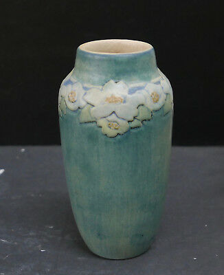 Newcomb Pottery Antique Floral Vase 1912 by Henrietta Bailey