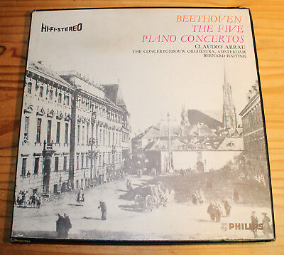 ARRAU HAITINK Beethoven The 5 Piano Concertos 5-LP-Box Philips SBAL 20