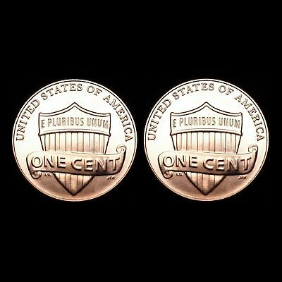 2013  P & D   Lincoln Shield Cents - BU (two coins)