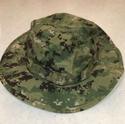 NWT NWU Type III Navy Seal AOR2 Digital Woodland Boonie Hat SUN COVER size LARGE