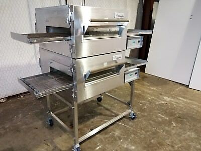 Lincoln Impinger 1116 NG Dbl. Stack Pizza Conveyor Oven..Refurbished. Video Demo