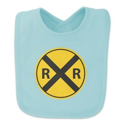 Railroad Crossing Traffic Sign Train Baby Bib