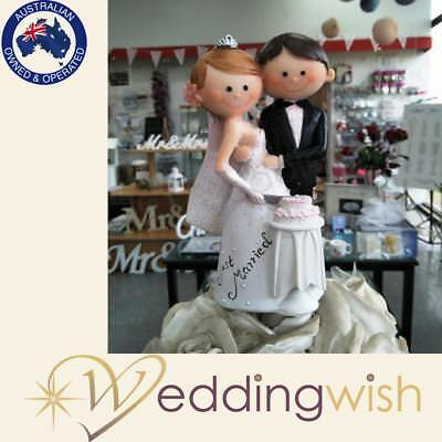 Wedding Bride and Groom Figurine Cake Topper, Novelty, Just Married