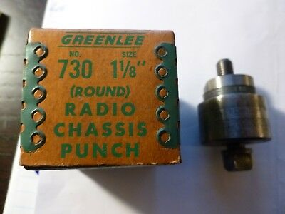 "Greenlee Tool Company 1 1/8"" (Round) 730 Radio Chassis Punch"